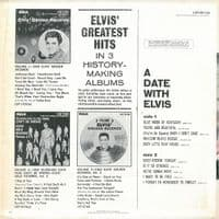 ELVIS PRESLEY A Date With Elvis Vinyl Record LP US RCA Victor 1977